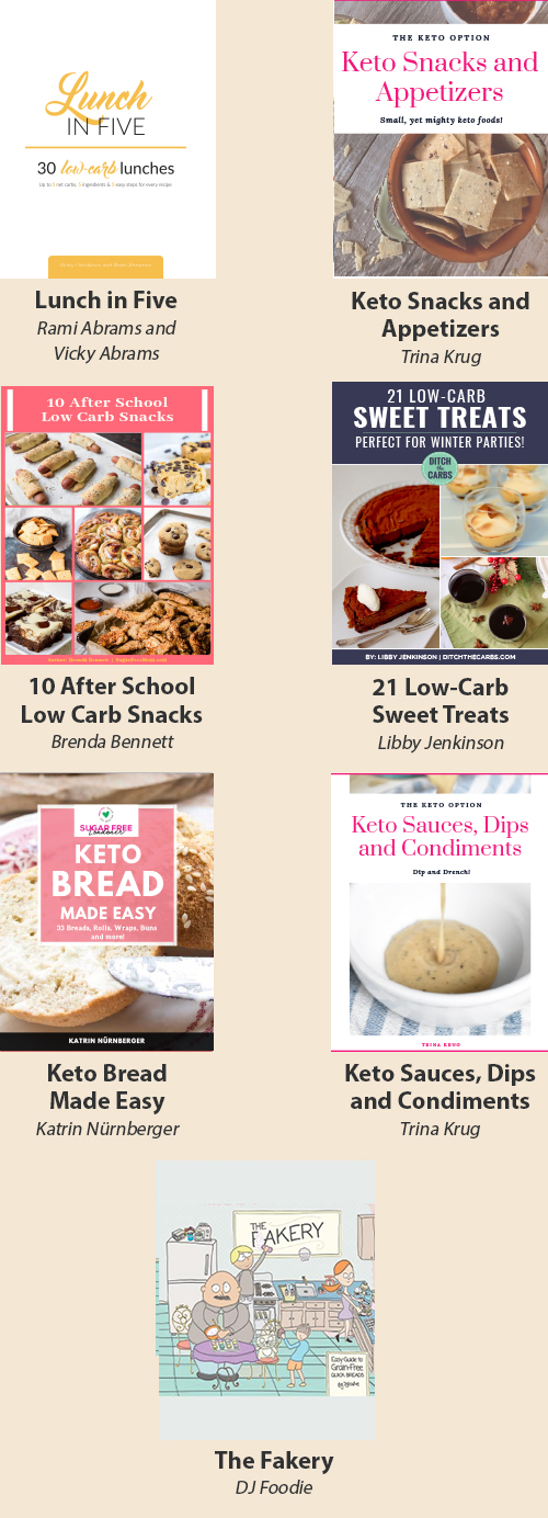 Lunch & Snacks Keto Cookbooks